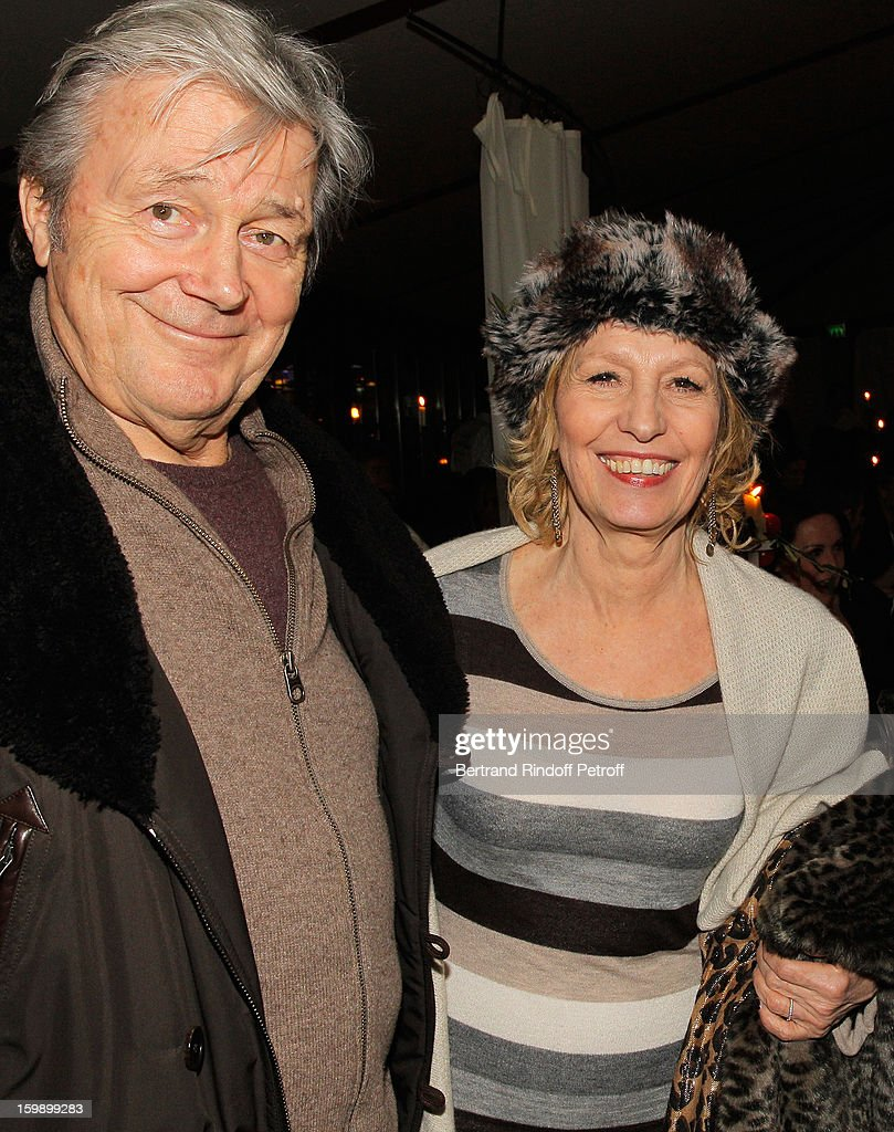 Catherine Barma (R) and her husband Philippe Lefebvre attend 'La Petite Maison De Nicole' Inauguration Cocktail at Hotel Fouquet's Barriere on January 22, 2013 in Paris, France.