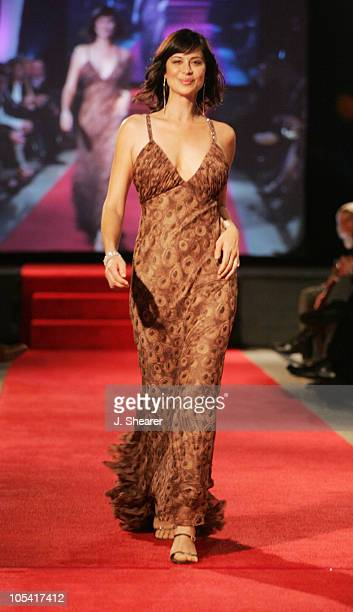 Catherine Bell during Red Carpet'05 Benefiting the Dream Foundation Fashion Show at Pacific Design Center in West Hollywood California United States