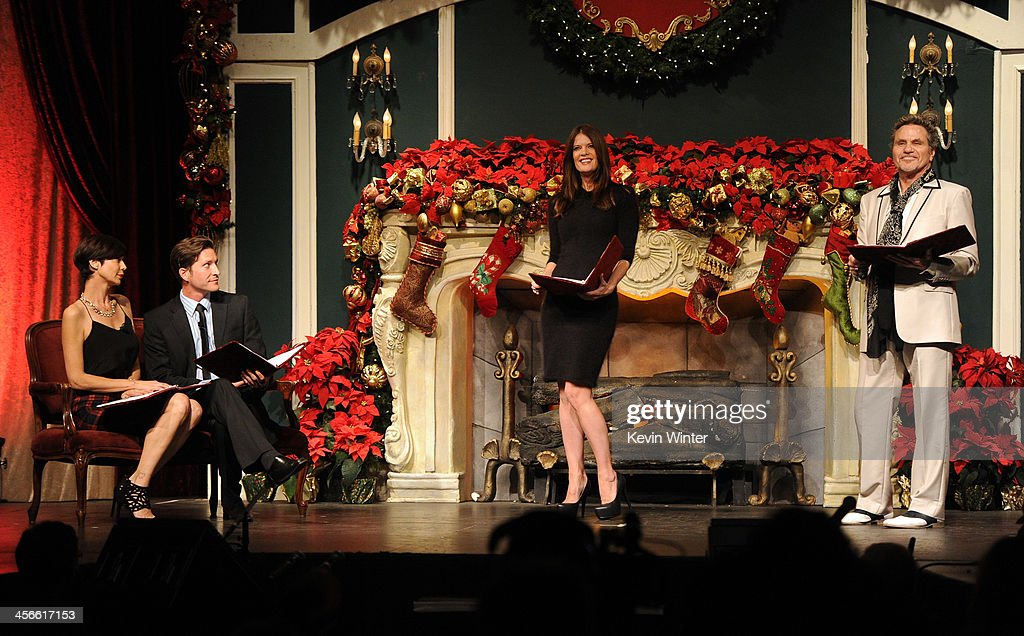 Catherine Bell Mike Falkow Michelle Stafford and Martin Kove perform onstage during the Church of Scientology Celebrity Centre's 21st 'Christmas...