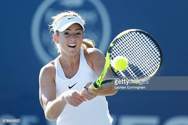Catherine Bellis of the United States competes against Sachia Vickery of the United States during day four of the Bank of the West Classic at the...