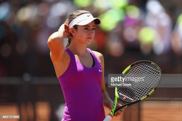 Catherine Bellis of USA during her first round match against Misaki Doi of Japan on Day Three of The Internazionali BNL d'Italia 2017 at the Foro...