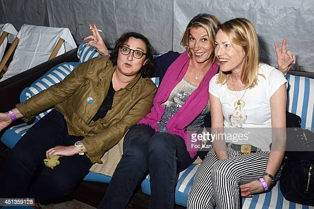 Catherine Benguigui Valerie Allegre and Gabrielle Lazure n attend the Fete des Tuileries' Opening Party Hosted By Marcel Campion At Jardin des...