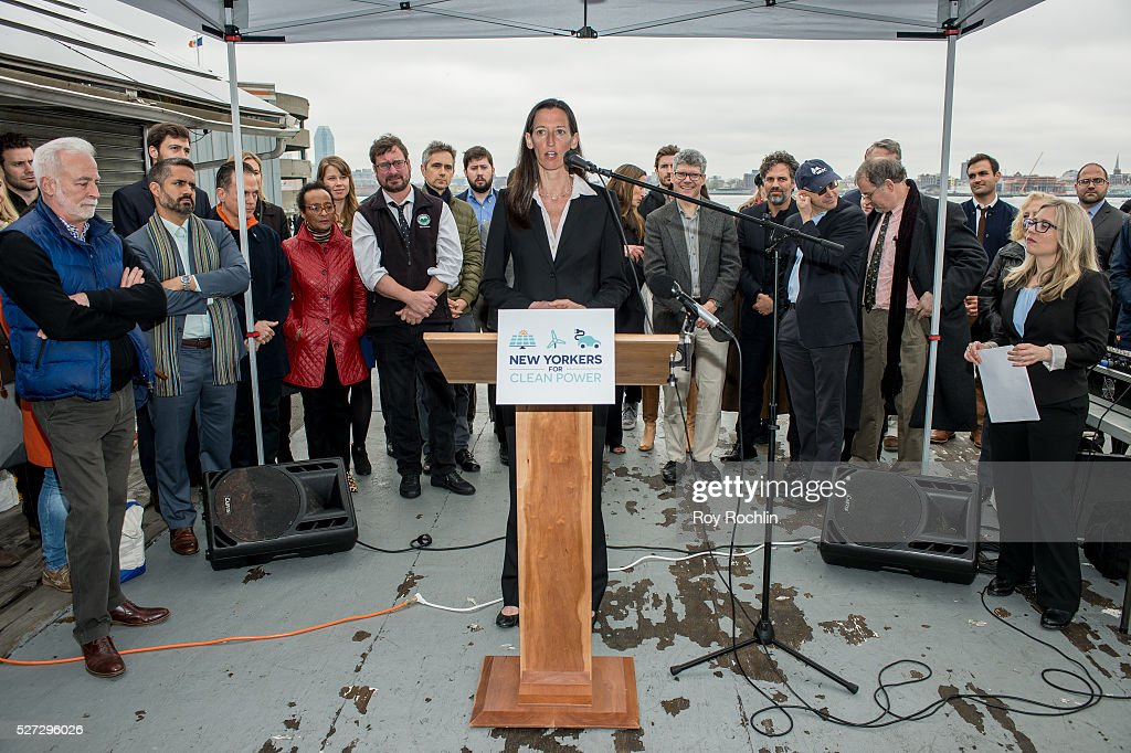 Catherine Bowes of National Wildlife federation attends New Yorkers For Clean Power Campaign Launch at Solar 1 on May 2, 2016 in New York City.