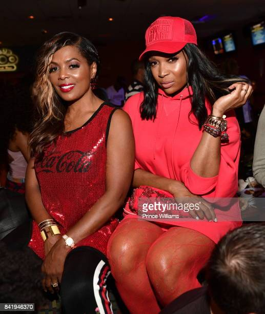 Catherine Brewton and Marlo Hampton attend the 2017 Ludaday Weekend Celebrity Bowling Tournament at Bowlmor lanes on September 1 2017 in Atlanta...