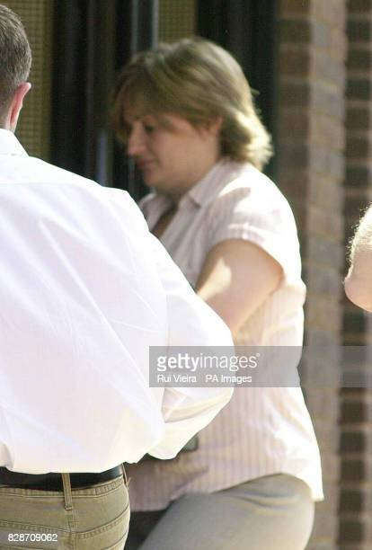 Catherine Brumfitt arrives at an employment tribunal in Birmingham to give evidence in her sexual discrimination case against the Ministry of Defence...