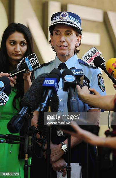 Catherine Burn Deputy Commissioner of the Specialist Operations speaks to the media in relation to the Sydney hostage incident at Sydney Police...