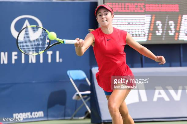 Catherine Cartan 'CiCi' Bellis during the third round of the 2017 Rogers Cup tennis tournament on August 10 at the Aviva Centre in Toronto ON Canada