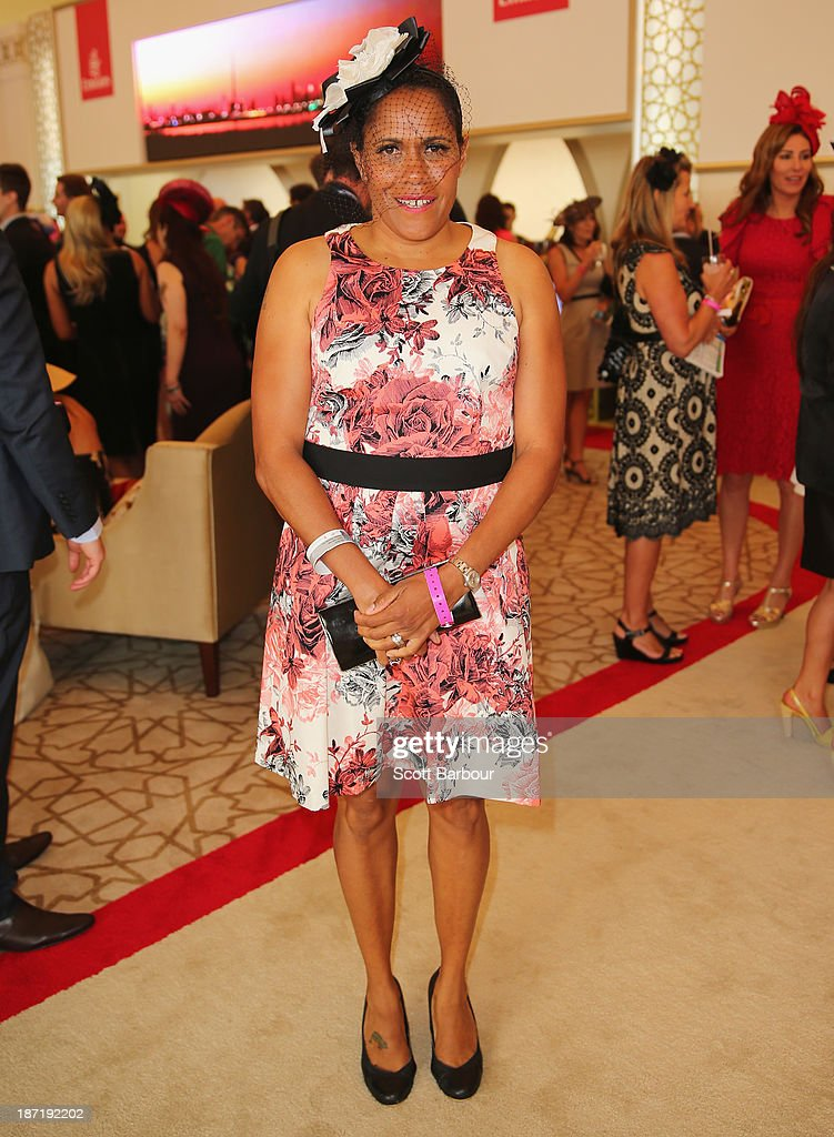 Catherine cathy freeman attends the emirates marquee during oaks day