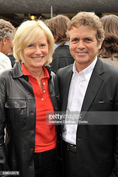 Catherine Ceylac and Claude Serillon at Roland Garros Village in Paris