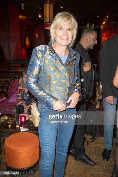 Catherine Ceylac attends 'Carnets d'un Sale Gosse' Laurent Gerra Signing his book at Buddha Bar on October 9 2017 in Paris France
