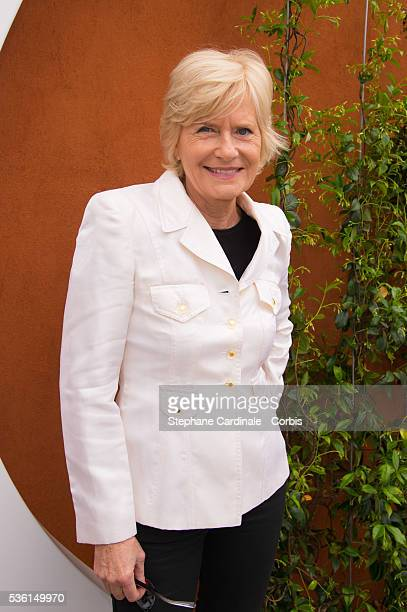 Catherine Ceylac attends the 2015 Roland Garros French Tennis Open Day Three on May 26 2015 in Paris France