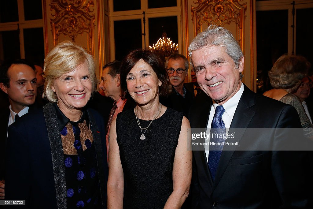 Catherine Ceylac, Martine Laroche-Joubert and Claude Serillon at Laurence Haim Is Honoured With The Insignes De Chevalier De La Legion D'Honneur at Salons France-Ameriques on December 12, 2015 in Paris, France.