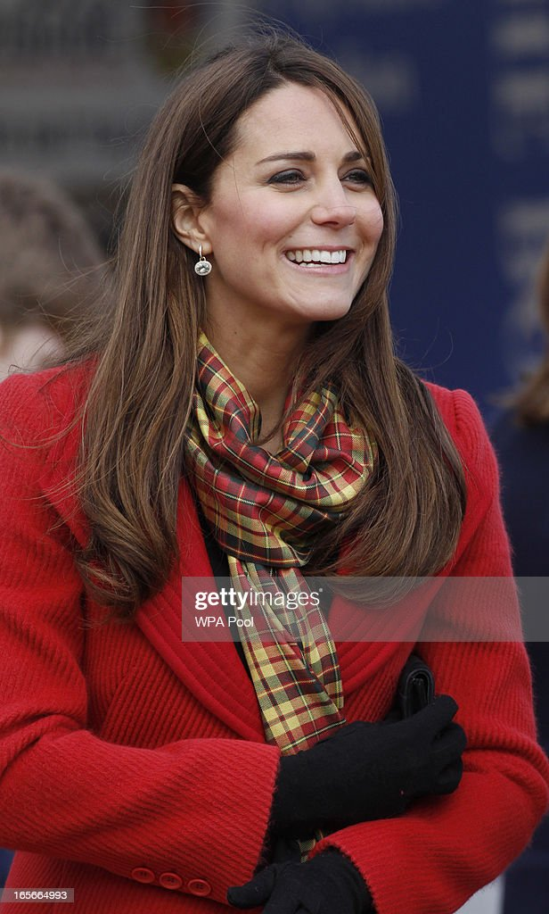 <a gi-track='captionPersonalityLinkClicked' href=/galleries/search?phrase=Catherine+-+Duchess+of+Cambridge&family=editorial&specificpeople=542588 ng-click='$event.stopPropagation()'>Catherine</a>, Countess of Strathearn is seen during a visit to Dumfries House on March 05, 2013 in Ayrshire, Scotland. The Duke and Duchess of Cambridge braved the bitter cold to attend the opening of an outdoor centre in Scotland today. The couple joined the Prince of Wales at Dumfries House in Ayrshire where Charles has led a regeneration project since 2007. Hundreds of locals and 600 members of youth groups including the Girl Guides and Scouts turned out for the official opening of the Tamar Manoukin Outdoor Centre.