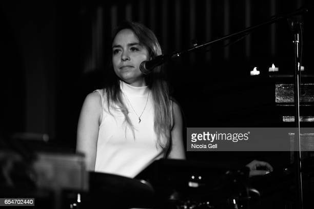 Catherine de Biasio performs onstage at the Communion music showcase during 2017 SXSW Conference and Festivals at St David's Historic Sanctuary on...