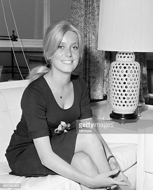Catherine Deneuve Actress at the age of 20 making her International film debut in publicising the Roman Polanski film Repulsion Here she ispictured...