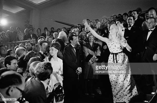 Catherine Deneuve After the Presentation of the Movie 'Les Parapluies de Cherbourg' In Competition At the Cannes Film Festival in Cannes France on...