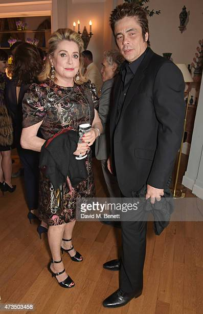 Catherine Deneuve and Benicio del Toro attend as Charles Finch hosts his annual Filmmakers Dinner and photographic exhibition in celebration of 'The...
