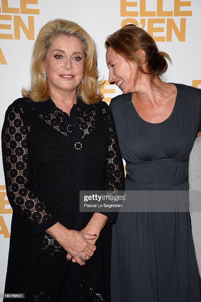 <a gi-track='captionPersonalityLinkClicked' href=/galleries/search?phrase=Catherine+Deneuve&family=editorial&specificpeople=123833 ng-click='$event.stopPropagation()'>Catherine Deneuve</a> (L) and <a gi-track='captionPersonalityLinkClicked' href=/galleries/search?phrase=Emmanuelle+Bercot&family=editorial&specificpeople=2147740 ng-click='$event.stopPropagation()'>Emmanuelle Bercot</a> attend 'Elle S'en Va' Paris Premiere at Cinema l'Arlequin on September 16, 2013 in Paris, France.