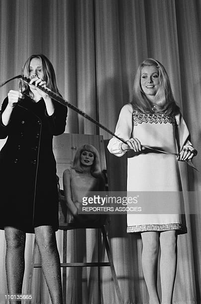 Catherine Deneuve and Francoise Dorleac in France on November 8th1966