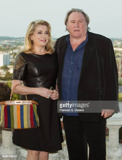 Catherine Deneuve and Gerard Depardieu attend the 10th Angouleme FrenchSpeaking Film Festival on August 25 2017 in Angouleme France