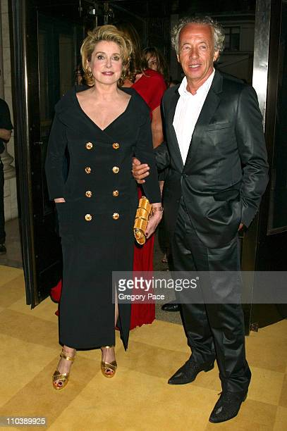 Catherine Deneuve and Gilles Bensimon during 2005 CFDA Fashion Awards Inside at New York Public Library in New York City New York United States