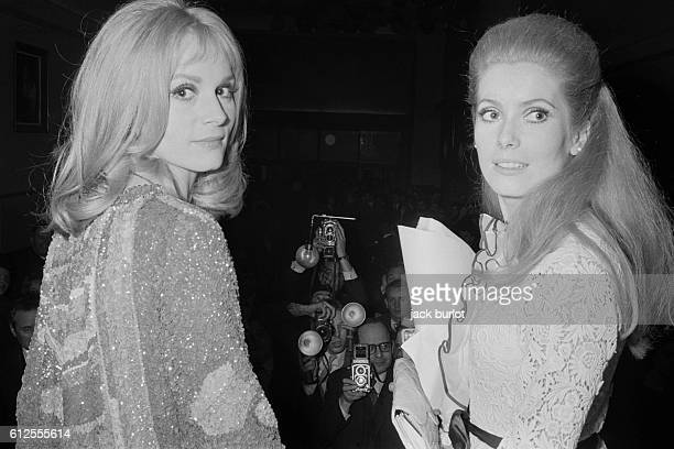 Catherine Deneuve and her sister Francoise Dorleac at the premiere of Les Demoiselles de Rochefort