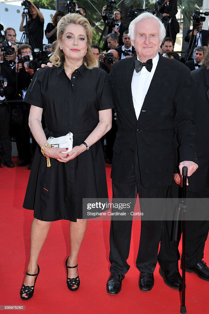 Catherine Deneuve and John Boorman at the 'Clouds Of Sils Maria' Premiere at the 67th Annual Cannes Film Festival