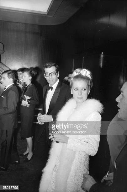 Catherine Deneuve and Roger Vadim during the opening of the film of Roger Vadim 'Chateau en Suede''Castle in Sweden' France 1963