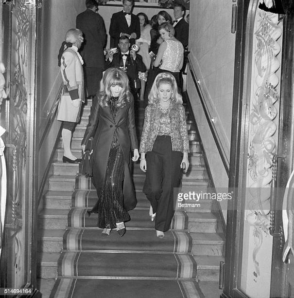 Catherine Deneuve and sister Francoise Dorleac both actresses at the Lido in Paris 1964