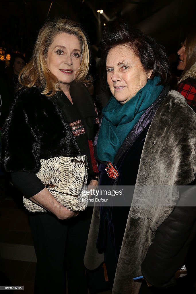 Catherine Deneuve and Suzy Menkes attend the Lanvin Fall/Winter 2013 Ready-to-Wear show as part of Paris Fashion Week on February 28, 2013 in Paris, France.