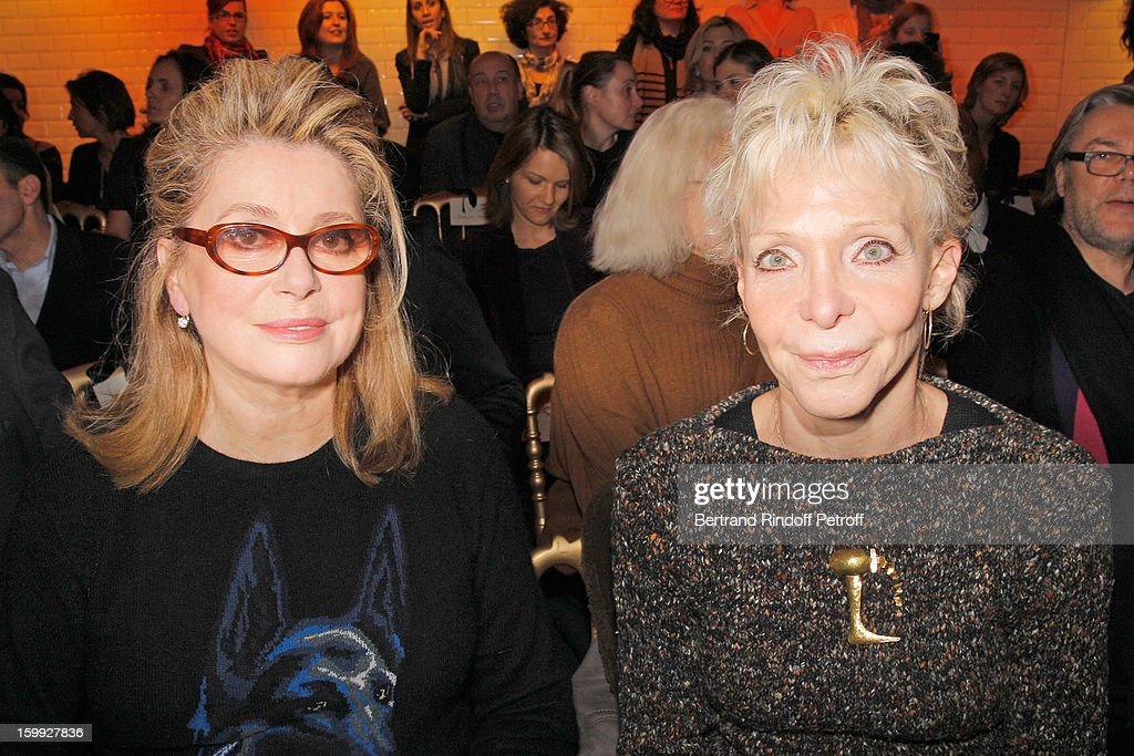<a gi-track='captionPersonalityLinkClicked' href=/galleries/search?phrase=Catherine+Deneuve&family=editorial&specificpeople=123833 ng-click='$event.stopPropagation()'>Catherine Deneuve</a> (L) and <a gi-track='captionPersonalityLinkClicked' href=/galleries/search?phrase=Tonie+Marshall+-+French+Director&family=editorial&specificpeople=626737 ng-click='$event.stopPropagation()'>Tonie Marshall</a> attend the Jean-Paul Gaultier Spring/Summer 2013 Haute-Couture show as part of Paris Fashion Week at on January 23, 2013 in Paris, France.