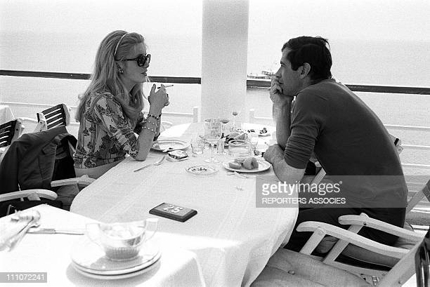 Catherine Deneuve and Vadim at Festival De Cannes in France in May 1964