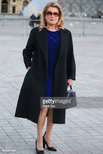 Catherine Deneuve arrives at the Louis Vuitton show as part of the Paris Fashion Week Womenswear Fall/Winter 2017/2018 on March 7 2017 in Paris France