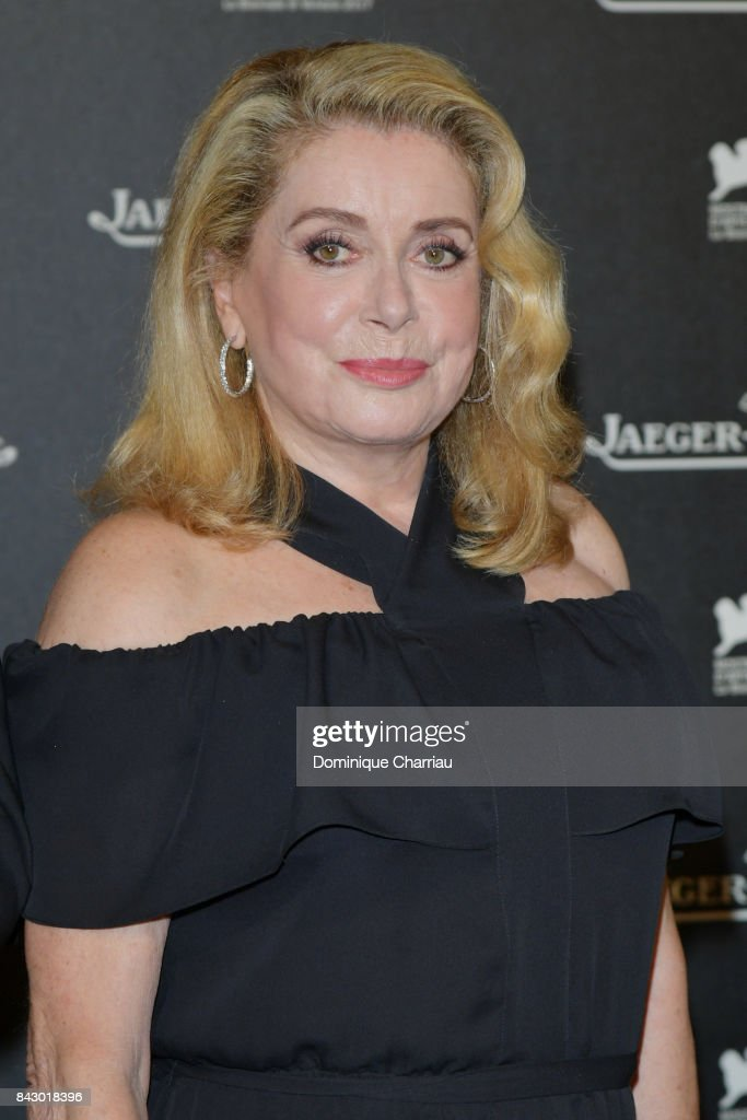 Catherine Deneuve arrives for the Jaeger-LeCoultre Gala Dinner during the 74th Venice International Film Festival at Arsenale on September 5, 2017 in Venice, Italy.