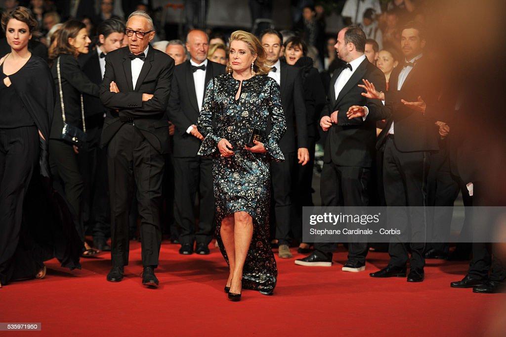 Catherine Deneuve at the 'L'Homme Qu'On Aimait Trop' premiere during 67th Cannes Film Festival