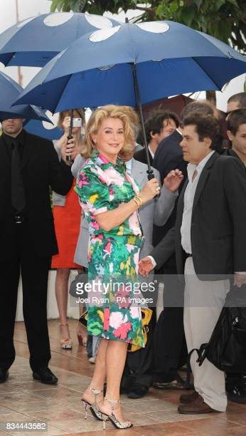 Catherine Deneuve attends a photocall for 'Un Conte de Noel' during the 61st Cannes Film Festival in Cannes France