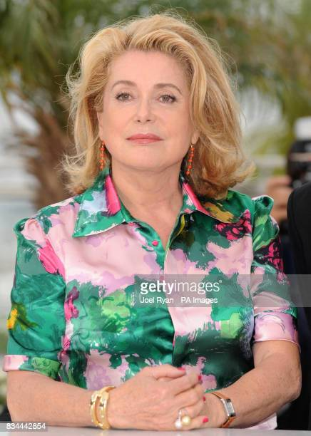 Catherine Deneuve attends a photocall for 'Un Conte de Noel' in Cannes France
