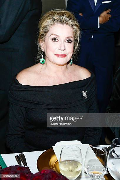 Catherine Deneuve attends a private dinner following the presentation of the Ralph Lauren Fall 13 Collection Show at Les BeauxArts de Paris on...