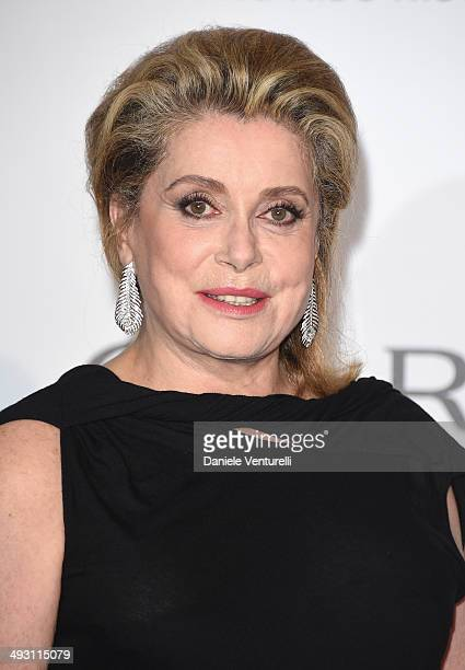 Catherine Deneuve attends amfAR's 21st Cinema Against AIDS Gala Presented By WORLDVIEW BOLD FILMS And BVLGARI at Hotel du CapEdenRoc on May 22 2014...