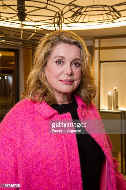 Catherine Deneuve attends JaegerLeCoultre Vendome Boutique Opening at JaegerLeCoultre Boutique on November 20 2012 in Paris France