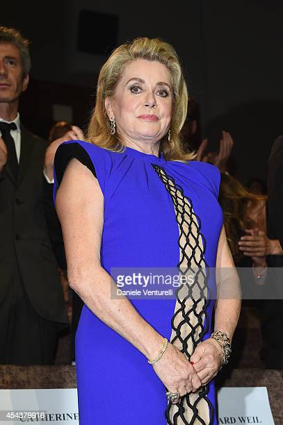 Catherine Deneuve attends the '3 Coeurs' premiere during the 71st Venice Film Festival on August 30 2014 in Venice Italy