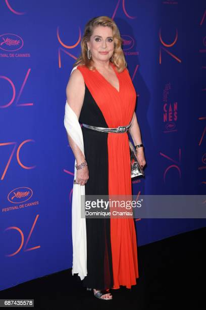Catherine Deneuve attends the 70th Anniversary Dinner during the 70th annual Cannes Film Festival at on May 23 2017 in Cannes France