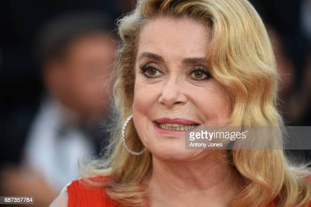 Catherine Deneuve attends the 70th Anniversary of the 70th annual Cannes Film Festival at Palais des Festivals on May 23 2017 in Cannes France