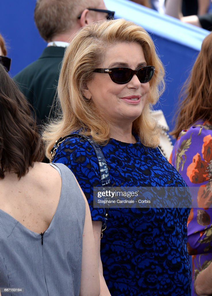 Catherine Deneuve attends the 70th Anniversary photocall during the 70th annual Cannes Film Festival at Palais des Festivals on May 23, 2017 in Cannes, France.