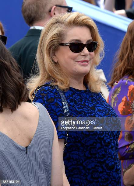 Catherine Deneuve attends the 70th Anniversary photocall during the 70th annual Cannes Film Festival at Palais des Festivals on May 23 2017 in Cannes...