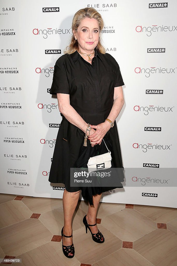 <a gi-track='captionPersonalityLinkClicked' href=/galleries/search?phrase=Catherine+Deneuve&family=editorial&specificpeople=123833 ng-click='$event.stopPropagation()'>Catherine Deneuve</a> attends the 'Hommage To Pierre Angenieux' Photocall at the 67th Annual Cannes Film Festival on May 23, 2014 in Cannes, France.
