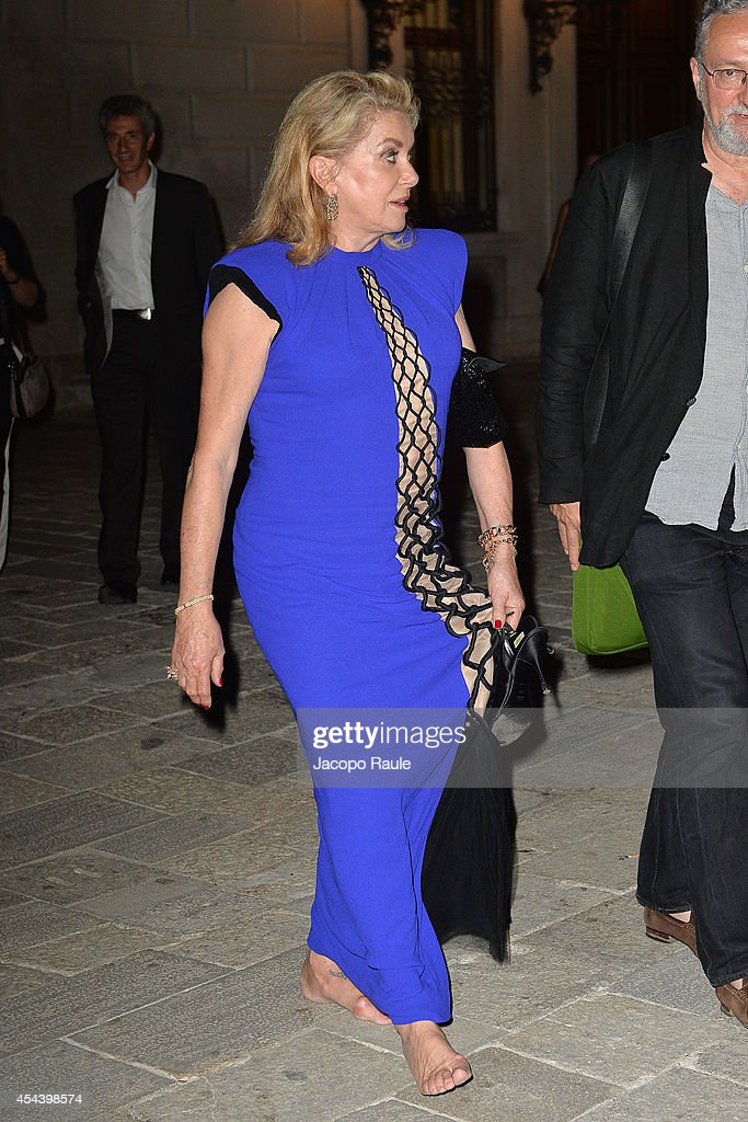 <a gi-track='captionPersonalityLinkClicked' href=/galleries/search?phrase=Catherine+Deneuve&family=editorial&specificpeople=123833 ng-click='$event.stopPropagation()'>Catherine Deneuve</a> attends 'The Humbling' premiere after party during the 71st Annual Venice Film Festival on August 30, 2014 in Venice, Italy.