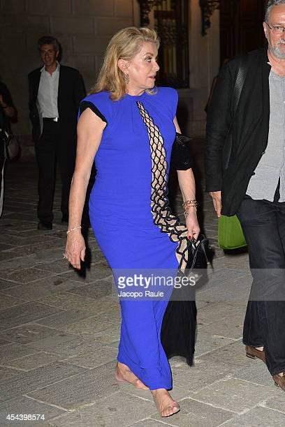 Catherine Deneuve attends 'The Humbling' premiere after party during the 71st Annual Venice Film Festival on August 30 2014 in Venice Italy