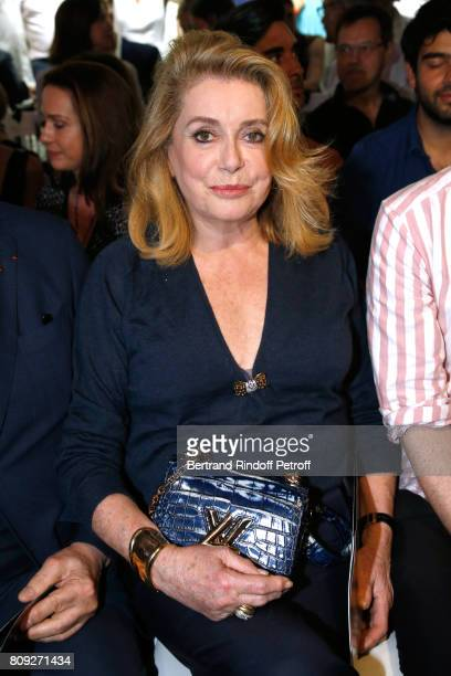 Catherine Deneuve attends the Jean Paul Gaultier Haute Couture Fall/Winter 20172018 show as part of Haute Couture Paris Fashion Week on July 5 2017...