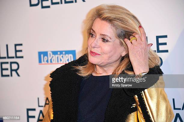 Catherine Deneuve attends the 'La Famille Belier' Paris Premiere at Le Grand Rex on December 9 2014 in Paris France